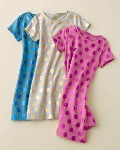 Metallic-Dot T-Shirt Dress - Garnet Hill Kids