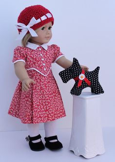 A new dog for Kit  Includes Dress Hat  and Scotty by BrooksideLane, $52.00