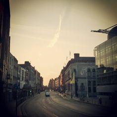 Rise on Dame street #sunrise #dublin #morning #street #dame #sun #summer #ireland