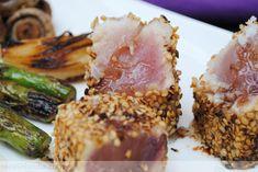 Receta de Bonito a la plancha con sésamo y mayonesa de wasabi