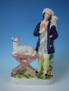 Staffordshire 'SHEEP SHEARER' titled figure  circa 1860