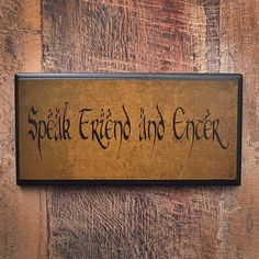 Speak Friend and Enter. Lord of the Rings by HappyDistraction