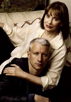 Gloria Vanderbilt and son, Anderson Cooper Cornelius Vanderbilt, Gloria Vanderbilt, Poor Little Rich Girl, Anderson Cooper, Stars Then And Now, Movie Photo, Sound Of Music, Celebrity Couples, In Hollywood