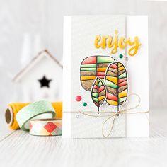 Embellished Die Cut Cards