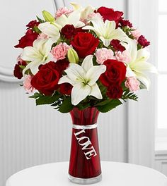 The most popular flower sold on Valentine's Day is: •The white daisy •The pink carnation •The red rose