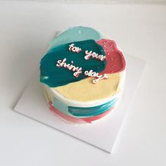Discovered by 𝓸𝓫𝓼𝓮𝓼𝓼𝓲𝓸𝓷 🏹. Find images and videos about love, food and aesthetic on We Heart It - the app to get lost in what you love. Pretty Birthday Cakes, Pretty Cakes, Beautiful Cakes, Amazing Cakes, Cake Birthday, Mini Cakes, Cupcake Cakes, Cupcakes, Korean Cake