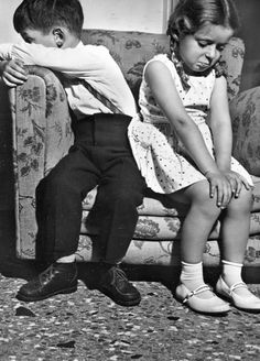 Black and white photography / Children / Come on lets talk something Black N White, Black And White Pictures, Young Love, Mode Vintage, Vintage Photographs, Little People, Beautiful Children, Vintage Children, Black And White Photography