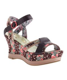 f3c06d935b73 Look what I found on  zulily! Raisin My Cup of Tea Leather Platform Sandal
