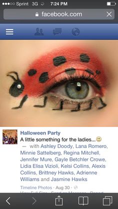 I'm going to try this when I wear my grouchy ladybug costume. Halloween Makeup, Halloween Party, Halloween Costumes, Grouchy Ladybug, Literacy Day, Ladybug Costume, Very Hungry Caterpillar, Book Themes, Timeline Photos