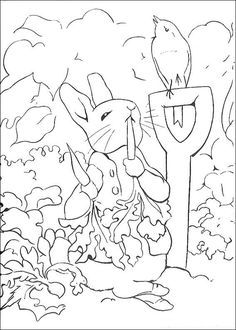 coloring page Peter Rabbit Kids-n-Fun