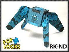 Poplock - Spider Bot RK-ND Free Paper Craft Download