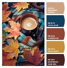 Instantly turn any picture into a palette with ColorSnap, created for you by Sherwin-Williams. Fall Color Schemes, Paint Color Schemes, Fall Color Palette, Colour Pallette, Color Palate, Color Combos, Orange Color Schemes, Orange Color Palettes, Paint Colors For Home