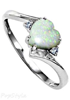 Opal Diamond Bypass Ring