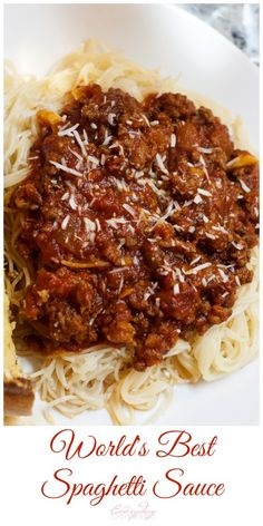 The best spaghetti sauce EVER