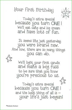 Birthday Card Sayings First Quotes Wishes 1st Cards