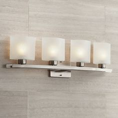 Possini Euro Linen Glass Wide Brushed Nickel Bath Light is a quality Bathroom Lighting for your home decor ideas. Modern Bathroom Light Fixtures, Contemporary Bathroom Lighting, Wall Light Fixtures, Bathroom Wall Lights, Bathroom Fixtures, Light Bathroom, Master Bathroom, Condo Bathroom, Guest Bathrooms