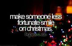 Hacer algo por alguien en Navidad.