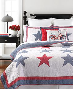 Martha Stewart Collection Star Spangled Quilts - Martha Stewart Collection - For The Home - Macy's