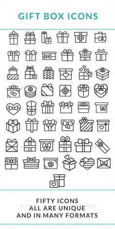 Gift Box Icons Set #icons #boxicons Download: http://graphicriver.net/item/gift-box-icons-set/11675418?ref=ksioks