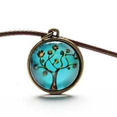 árbol arte collar colgante árbol vida joya collar cabujón de... – MXN $ 33.65