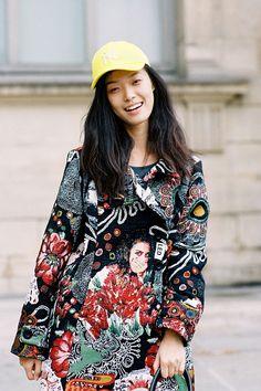 Chinese model Tian Yi (Storm), after Louis Vuitton, Paris, October 2012. #baseball hat