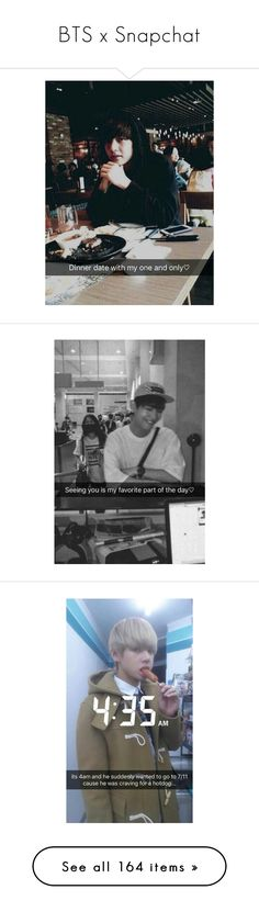 """""""BTS x Snapchat"""" by cmarnoldrr ❤ liked on Polyvore featuring jhope, bts, jungkook, taehyung and jimin"""