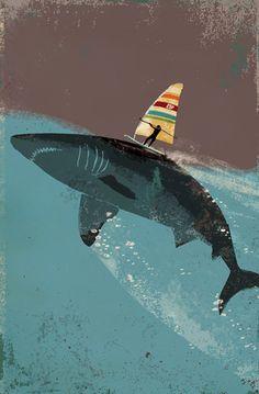 Shark Sailing Art Piece #printable Dentistry for Children and Young Adults | #Orange | #CA | www.pediatricdentistorangeca.com