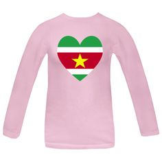 Fun design for Vlaenitne's Day or any special time shows a heart shaped Surinamese Flag, or Flag of the Republic of Suriname. Great for honoring and sharing love and pride in your ethnic heritage, ancestry and culture. Fun for world travelers, wanting to recall a vacation, trip, or holiday. $27.99 ink.flagnation.com