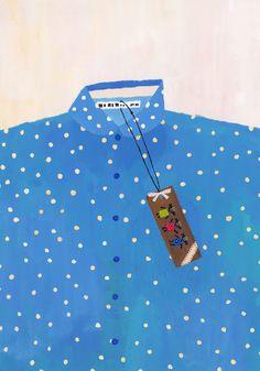 Seno Kaori - Polka dot shirt