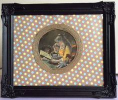 A Closs after Edouard Ravel 1883 framed & hand colored wood engraving.
