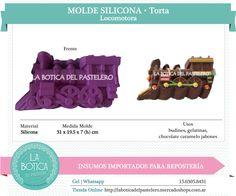 Categoría: Molde Silicona cake pop, tortas, muffins, chocolatero  Producto: molde silicona Torta grande Modelo: Locomotora  Presentacion: 1 molde   Importado