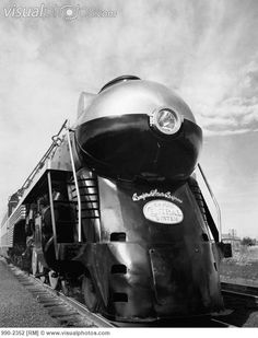 Streamlined Hudson Locomotive