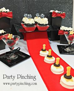 Oscar Party - Party Planning - Party Ideas - Cute Food - Holiday Ideas -Tablescapes - Special Occasions And Events - Party Pinching