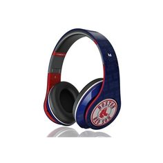 Beats by Dr. Dre Red Sox Edition Headphones ❤ liked on Polyvore