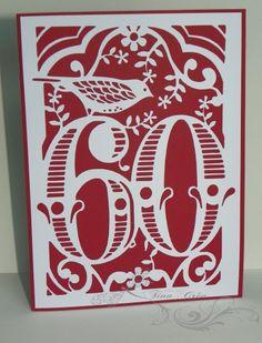 Et oui 120 ans à eux deux ! 2 jumeaux de ma connaissance célèbreront bientôt leurs 60 printemps ... Une carte rouge pour madame un dessin traité numériquement sous Silhouette Studio ! une petite surprise à l'intérieur : un gâteau pop-up dont le modèle...