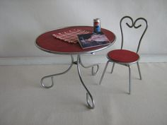 Vintage 50s WATKO Umbrella Table and Chair  RARE by TheToyBox