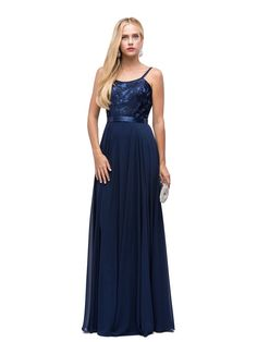 7fa89189ac DQ 9914 - Tank Style Top   Embroidered Bodice with Chiffon Skirt.  Bridesmaid DressesWedding DressesProm DressesFormal DressesQueen ...