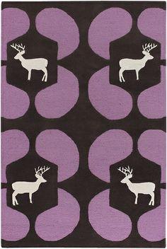 Purple Elk Geo Avalisa Rug