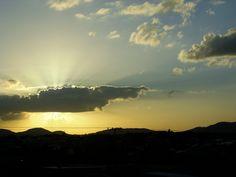 Atardecer Crepúsculo en Upata Bolívar Venezuela. Desde la Urb Coviaguard en Febrero del 2012