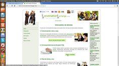 Con Conversation exchange idiomas puedes tener conversación cara a cara, correspondencia escrita y chats de texto y voz- En http://www.conversationexchange.com/?lg=es