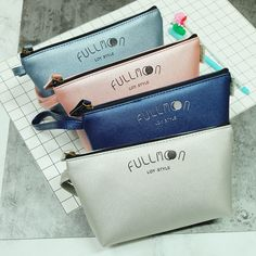 """Full Moon"" 1pc Beautiful Pencil Bag Study Case Faux Leather Zip Around Big Bag #Unbranded"