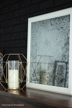 Diy Antique Mirror Black Brick2