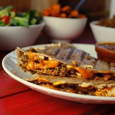 Cauliflower Walnut Taco Meat Quesadillas [Vegan] - One Green PlanetOne Green Planet Easy Vegan Dinner, Vegan Dinner Recipes, Vegan Dinners, Dairy Free Recipes, Whole Food Recipes, Vegetarian Recipes, Healthy Recipes, Healthy Eats, Vegan Vegetarian