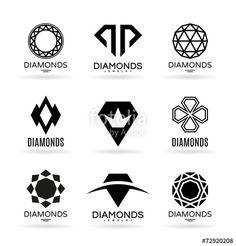 """Téléchargez le fichier vectoriel libre de droits """"Diamonds (8)"""" créé par pne au meilleur prix sur Fotolia.com. Parcourez notre banque d'images en ligne et trouvez l'illustration parfaite pour vos projets marketing !"""