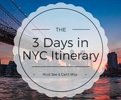 The insiders' guide to experiencing NYC in 3 days. This popular New York City itinerary covers the best things to do during your NYC vacation.