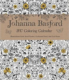 Johanna Basford 2016 2017 16 Month Coloring Weekly Planner Calendar Amazoncouk 0050837355668 Books
