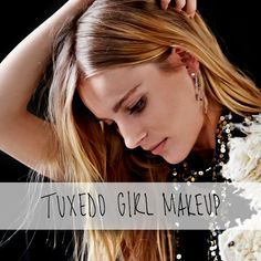 Get the look: Tuxedo Girl Makeup Beauty Makeup, Hair Makeup, Hair Beauty, Fall Fashion, Fashion Beauty, Girls Makeup, Looks Cool, Vixen, True Beauty
