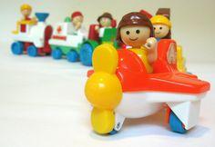 Vintage Playskool Playmates Little People & Vehicles