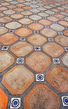 Spanish Tile Floor. Yes please...