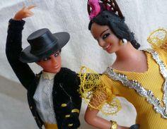 Vintage Marin Chiclana Flamenco Dolls - Souvenir of Spain - Spanish Dolls - Espana 1960s